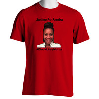 JUSTICE FOR SANDRA #BLACKLIVESMATTER T-Shirt Supporting Justice and Equality for African Americans