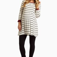 Black-Striped-Cuff-Sleeve-Tunic