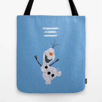 Olaf // Frozen Tote Bag by Lukas Emory