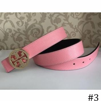 Tory Burch 2018 Men's and Women's Wild Casual Smooth Buckle Belt F0891-1 #3