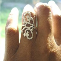Vintage Silver Scroll Ring | azteclovers | ASOS Marketplace