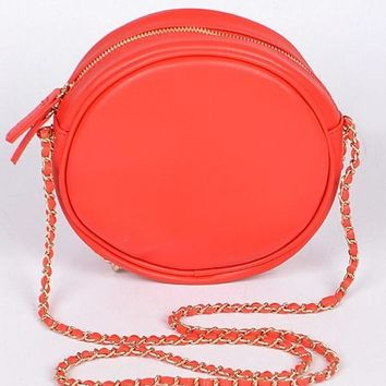 Party Girl Round Purse Red