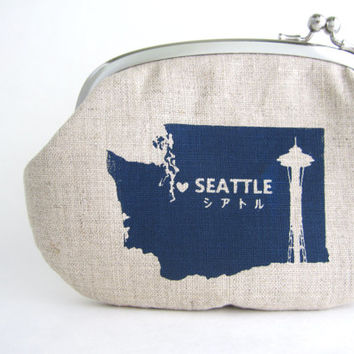Frame Purse Wallet -Seattle Washington screen print