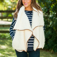 Always & Fur-Ever Vest, Ivory