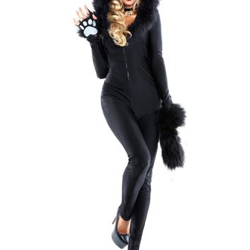 Adult Woman Halloween Carnival Costumes Sexy Catwoman Cosplay Cat Jumpsuits