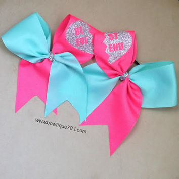 Set of Best Friend Cheer Bows