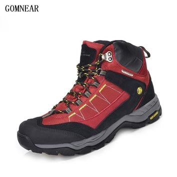 GOMNEAR Men Women 100% Waterproof Hiking Shoes Antiskid Desert Jungle Trekking Shoes Hunting Male Climbing Hiking Boots Outdoor