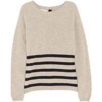 Chinti and Parker Striped button-back cashmere sweater