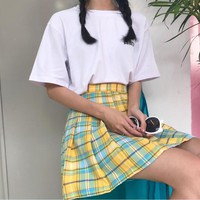 Teacher's Pet Plaid Skirt