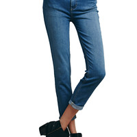 Free People Women's High Rise Rolled Cropped Jeans