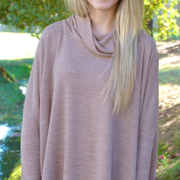 Cool In The Cabin Sweater-Taupe