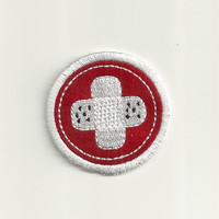 "3"" First Aide Merit Badge, Patch! Custom Made!"