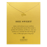 Bee Honeycomb Necklace, Gold Dipped | Dogeared
