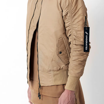 B07 Stealth Strapped Bomber Jacket - Beige