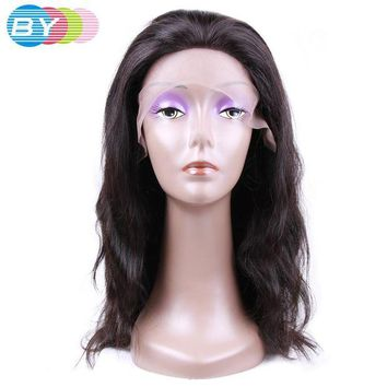 LMF78W BY Virgin Human Hair Body Wave Brazilian Lace Front Wigs Natural Color 10-24inch Human Hair Wigs Free Shipping