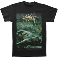 Cattle Decapitation Men's  Anthropocene Extinction T-shirt Black
