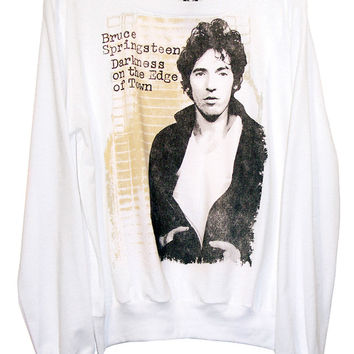 Bruce Springsteen Darkness Distressed Long Sleeve Jumper