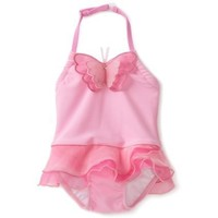 Kate Mack Baby Girls' Butterfly Ballet 1 Piece Skirted Swimsuit