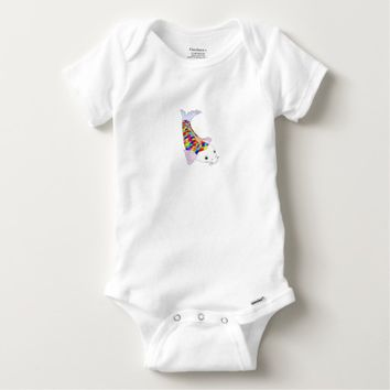 Colorful fish baby Onesuit