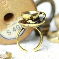 Gold Teacup Ring