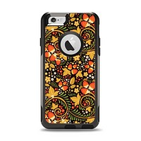 The Colorful Floral Pattern with Strawberries Apple iPhone 6 Otterbox Commuter Case Skin Set