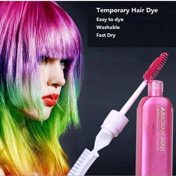 3 Hair Color & TOUCH-UP Mascara chalks-for-the-hair 12 colors Non-toxic temporary hair dye with comb