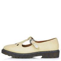 GRACIE T-Bar Geek Shoes - Pale Yellow