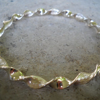 Sterling Twist Bangle Bracelet