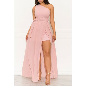 High Hopes Maxi Gown Dress Dusty Pink