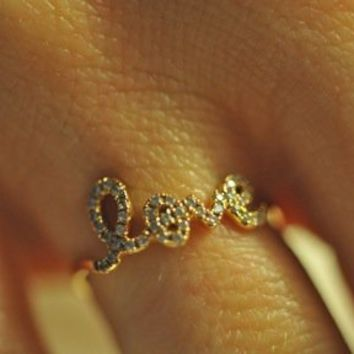 Fancy - XIV Karats Love Ring
