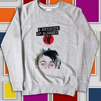 KemisJumeat Design Sweatshirt 5 sos Michael Clifford screenprint