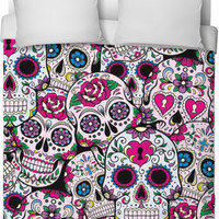 Sugar Skull Thick Blanket