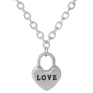 Tiny Love Heart Necklaces Pendants Silver Simple Charm Necklace Women Minimalist Tiffan Jewelry Best Friends Gift Collier Femme