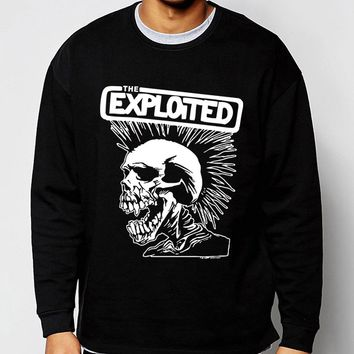 fleece high quality men sweatshirts Punk Rock The Exploited 2017 hot sale spring winter fashion hoodies hip hop tracksuit S-2XL