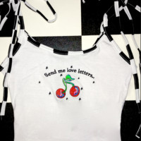 SWEET LORD O'MIGHTY! LOVE LETTERS CROP TANK