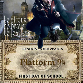 Harry Potter Image,First Day of School Sign, 2016-17 School Sign, Hogwarts Ticket Sign, Harry Potter Sign, Harry Potter Poster, Harry Potter