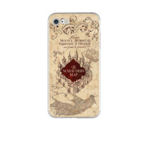 "Harry Potter ""The Marauder's Map"" Case For iPhone 5 5S SE 6 6S 7 Plus and All Galaxy Phone"
