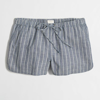 "Factory 3"" striped chambray pull-on short"
