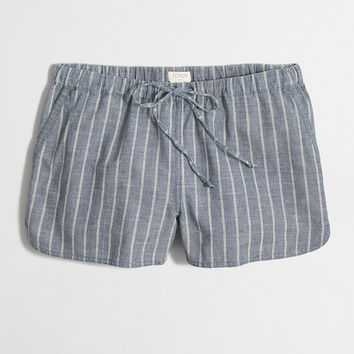 """Factory 3"""" striped chambray pull-on short"""