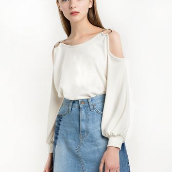 Ivory Shoulder Ring Top