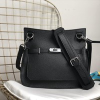 Ready Stock Hermes Women's Leather Gypsy Inclined Shoulder Bag #726