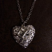 Custom Silver Heart Essential Oil Diffuser Locket with Initial Pendant~Necklace~Aromatherapy