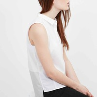 Calvin Klein Jeans Watalina Sleeveless Shirt in White - Urban Outfitters
