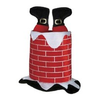 Beistle 1-Pack Plush Santa Chimney Hat