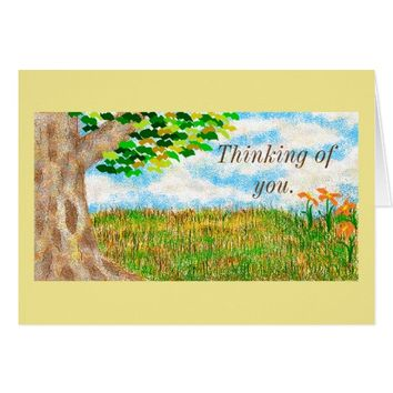 """""""Beautiful Day"""" Thinking Of You Greeting Card"""