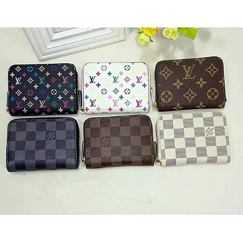 LV Louis Vuitton Clutch Bag Wristlet Wallet Purse  6 colors