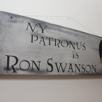 My Patronus is Ron Swanson Wood Wall Hanging