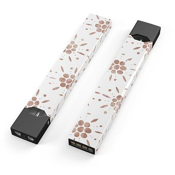 Skin Decal Kit for the Pax JUUL - Brown Watercolor Flowers V1