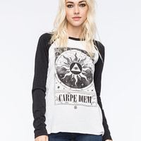 Element Carpe Diem Womens Raglan Tee Black/White  In Sizes