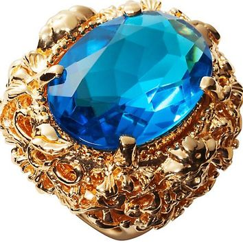 "Versace - ""Baroque"" Line Gold Ring"